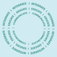 integrate-educate-communicate-wheel-teal-teal