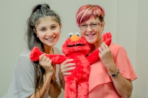 Lexi and Roz (and Elmo!)